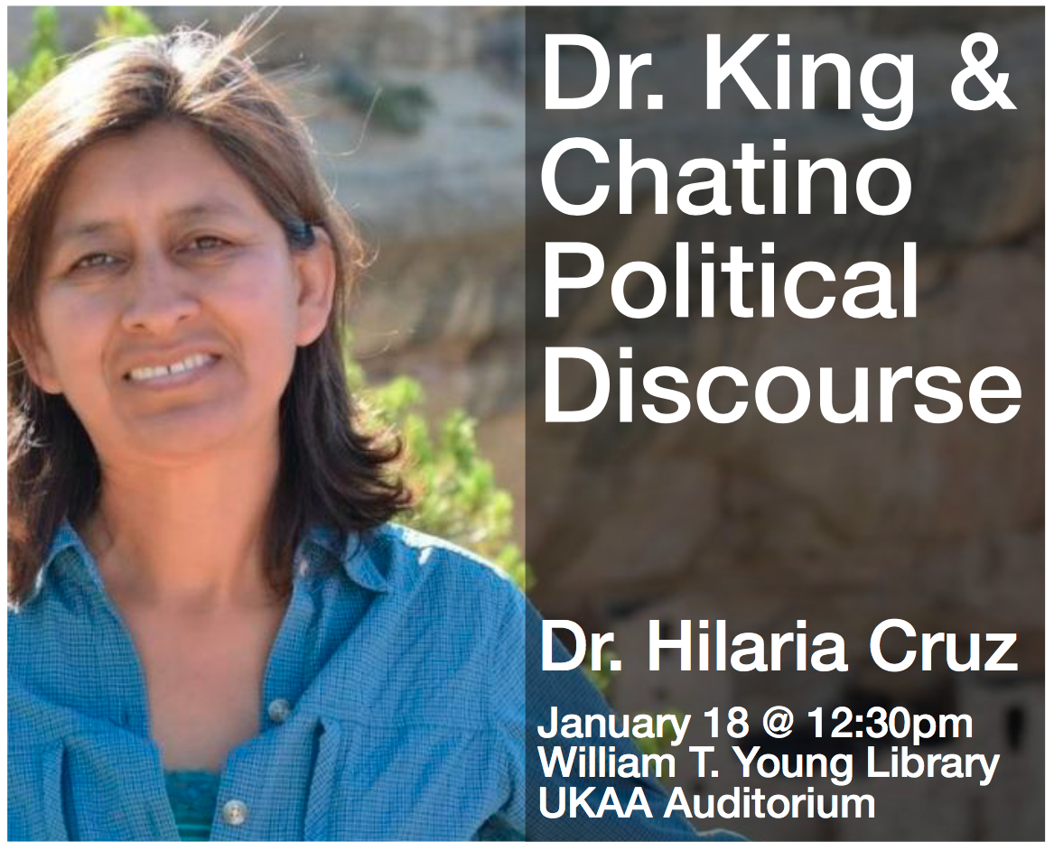 Dr. King & Chatino Political Discourse, an event in honor of Dr. Martin Luther King, Jr.