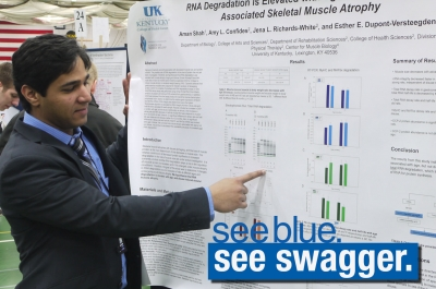 Aman Shah presents at the 2013 National Conference on Undergraduate Research at the University of Wisconsin-LaCrosse. UK will host the 2014 conference.