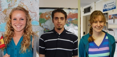 UK students Anil Erol, Holly Poore and Heidi Vollrath will conduct research that takes them across the globe this summer.